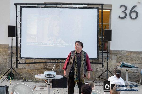 Harald Vincent stellt den Film vor | Foto Holger Hütte