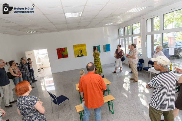 Die Ausstellung wird geöffnet | (C) Holger Hütte