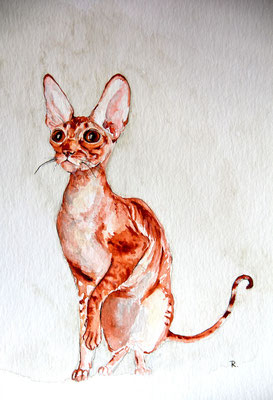 """Queen of Mice"" 30 x 40 cm, Aquarell / Art by R. 2012"