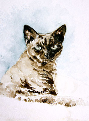 """ Sissi "" 30 x 40 cm, Aquarell / Art by R. 2012"