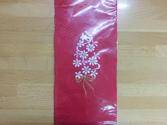 子供刺繍半衿 赤540円
