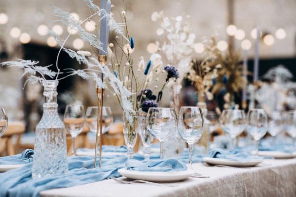 Tischdekoration Hochzeit NRW
