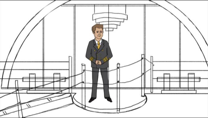 Design for the short film, A-Rosa , Bord information