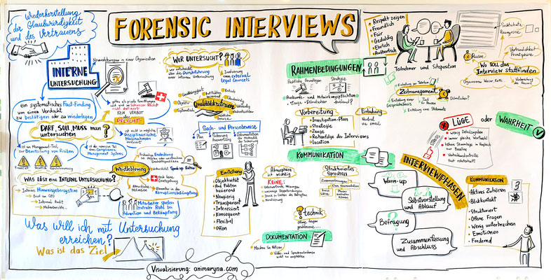 Forensic Interviews, graphic recording during presentation, 2 hours