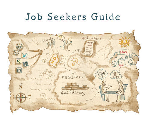 Illustration for book, Job seekers guide