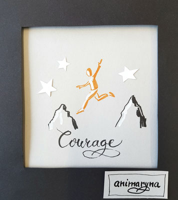Courage, handmade, paper