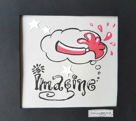Imagine, handmade, paper