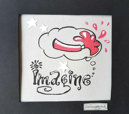 Imagine, handmade, paper