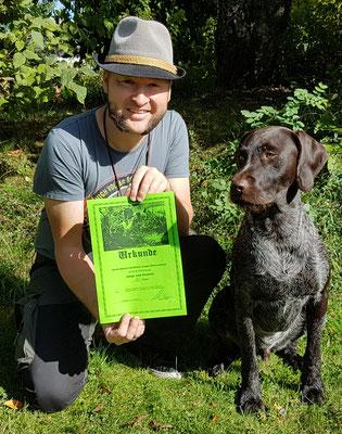 Amigo vom Heuwald mit seinem Hundeführer Gunnar Hornstein, 181 Pkt.