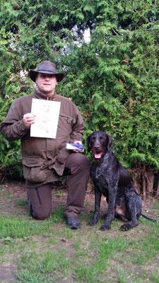 Aiko vom Heuwald mit seinem Hundeführer Michael Feneis, 189 Pkt.