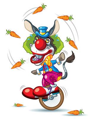 Randonnée Clown en âne bâté en Touraine Val de Loire