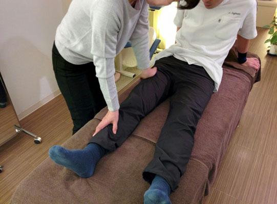 ボディケアレベルアップ講習 大腿部の施術