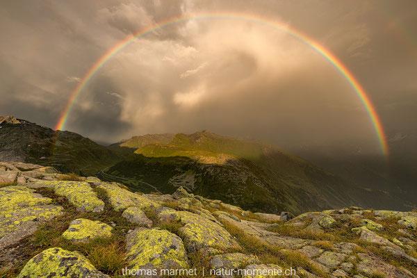 Regenbogen auf dem Grimselpass