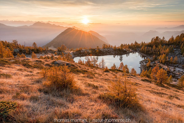 Sonnenaufgang im Tessin
