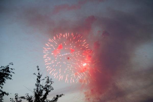 4. Juli Nationalfeiertag in den USA Feuerwerk um Mitternacht