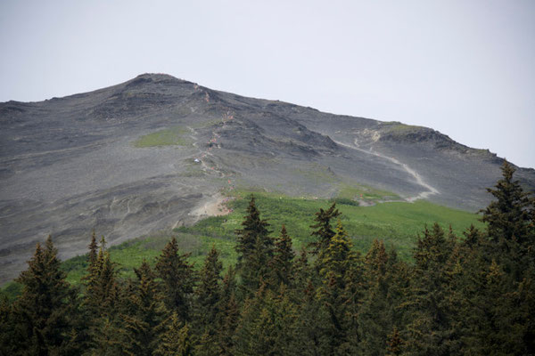 fast 2,5 km steil nach oben