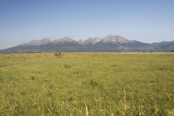Die Hohe Tatra von Süden aus gesehen