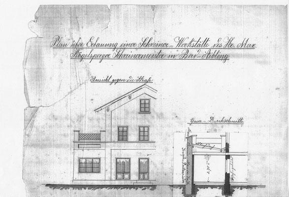 2. Bauantrag vom 22.12.1889