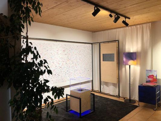 """Installation im Atelier in Amberg OÖ """"Signatur Liebe"""""""