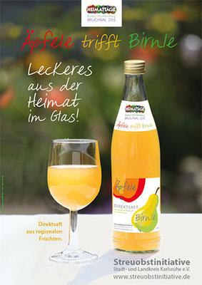 Plakat Streuobst Saft Äpfele Birnle – Streuobstinitiative e.V.