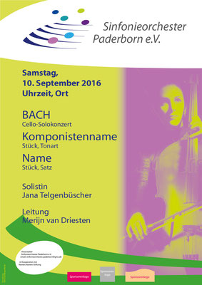 Plakat Konzert Orchester Paderborn