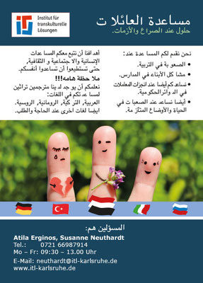 Zweisprachige Flyer für Menschen mit Migrationserfahrung