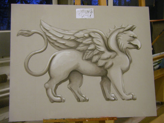 Graumalerei ca. 80 x 100cm