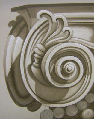 Graumalerei ca. 100 x 80 cm