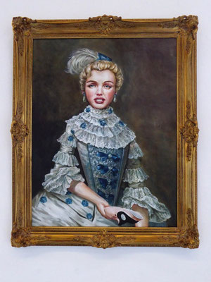 Malerei auf Keilrahmen, gerahmt, ca. 70 x 90 cm