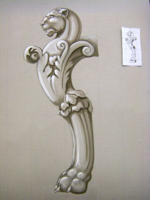 Graumalerei ca. 100 x 70 cm