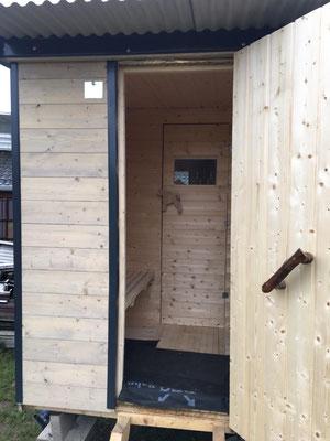 Sauna auf Räder