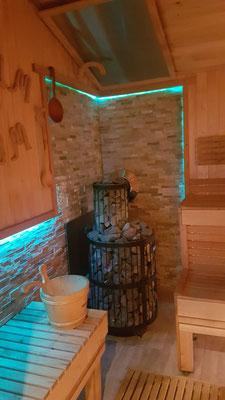 Harvia Holz-Saunaofen mit 200 kg Saunasteinen