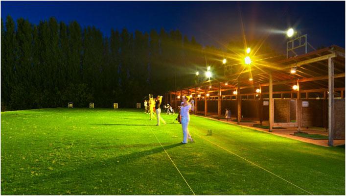 Golf della Montecchia Campo pratica illuminato a Padova
