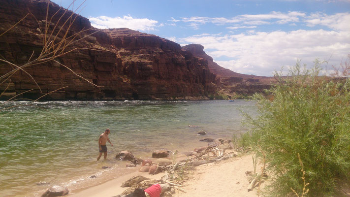 Ein Strand am Colorado River
