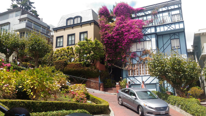 Die berühmte Lombard street