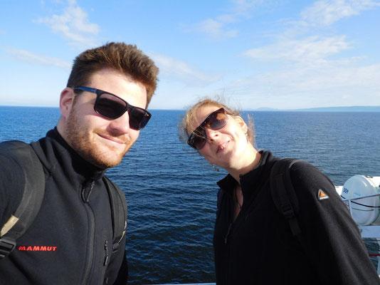 Mit Pia auf der Fähre zur Swartz Bay