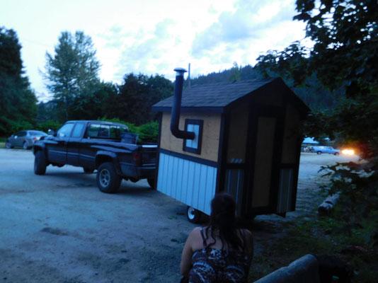 some guys here had a sauna trailer