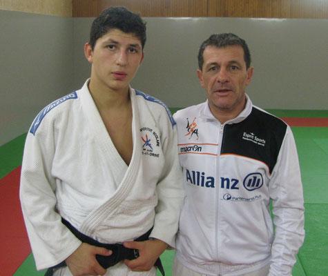 Juan-Raphaël SOUCIET  CN 1er DAN et son Prof. Alberto RAMOS