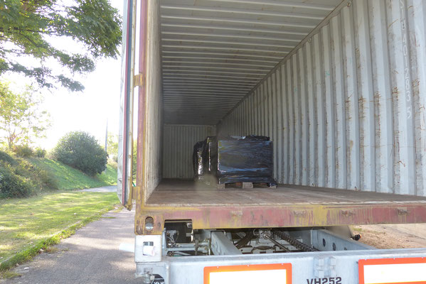 A son arrivée, des ordinateurs luxembourgeois étaient déjà dans le conteneur