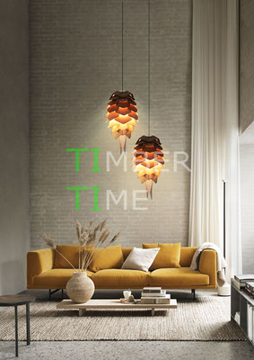 Holzlampe Zapfen