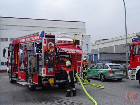 Ebenfalls im Einsatz die Feuerwehr Mietraching