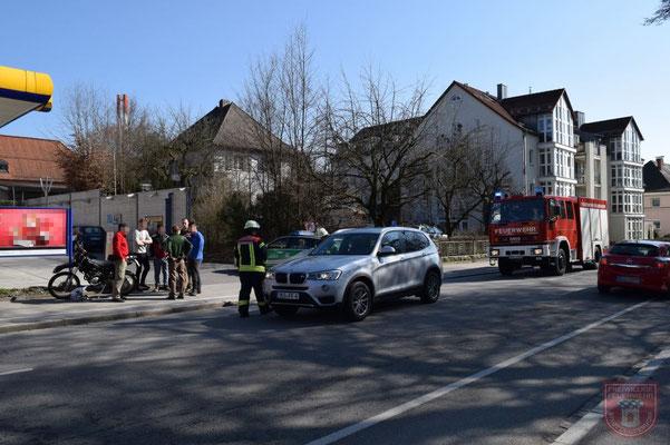 Die Aufgabe der Feuerwehr beschränkte sich auf die Absicherung der Unfallstelle