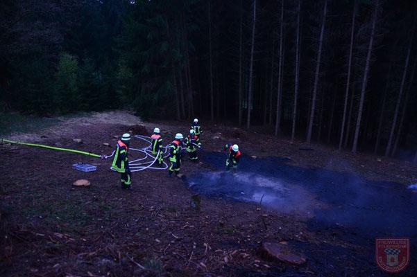 Die Feuerwehr Deggenau unterstütze tatkräftig