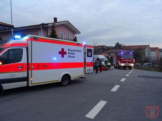 Der Rettungsdienst  kümmerte sich sofort um den Patienten