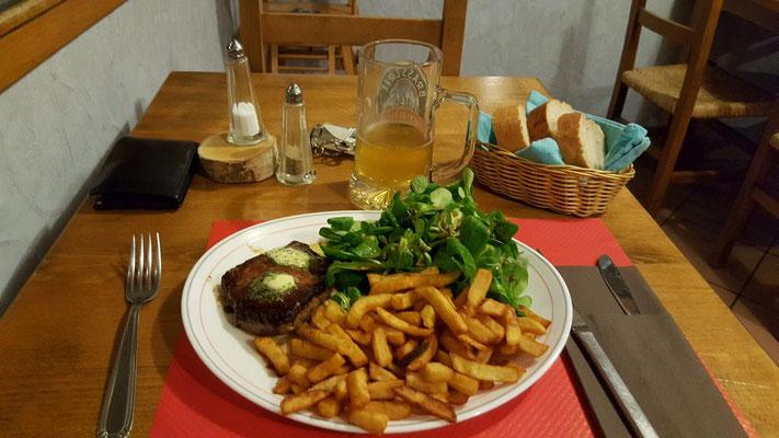 Abendessen in Bramans