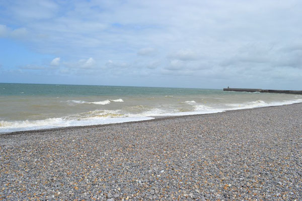 Am Strand von Dieppe