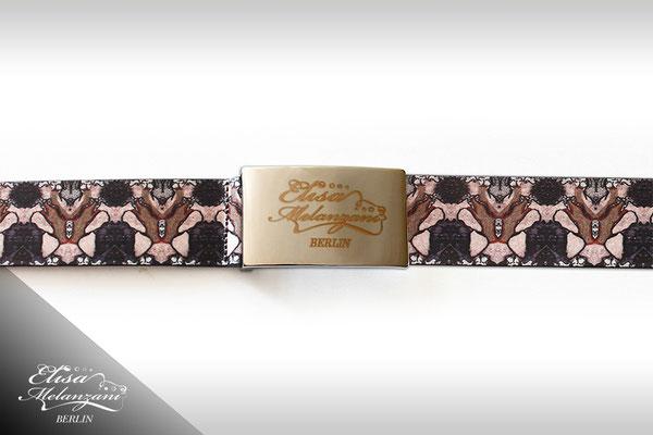 Design -dreamy bumblebee- Kollektion: TREASURY sapphirine - Ledergürtel © ELISA MELANZANI BERLIN