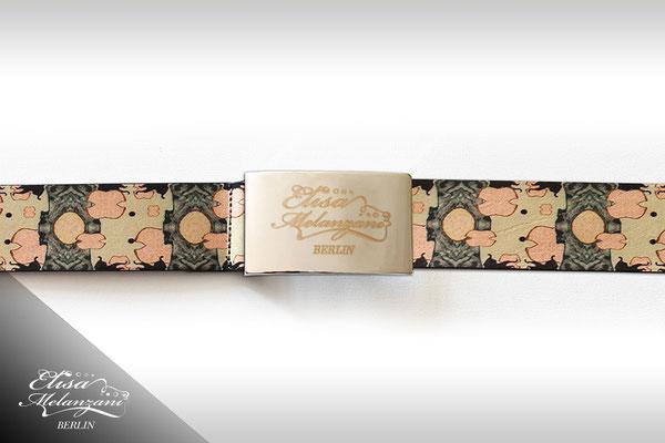 Design -dreamfactory pastel- Kollektion: TREASURY olivine - Ledergürtel © ELISA MELANZANI BERLIN
