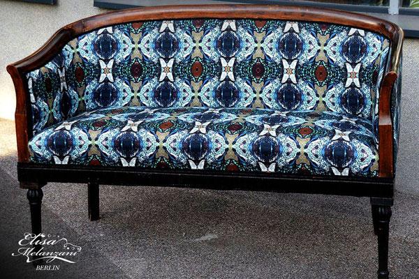 Design -jungle eye- Kollektion: TREASURY sapphirine - Polsterstoff  © ELISA MELANZANI BERLIN