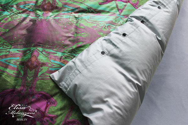 Knöpfe aus pflanzlichem Elfenbein - Satinbettwäsche © ELISA MELANZANI BERLIN